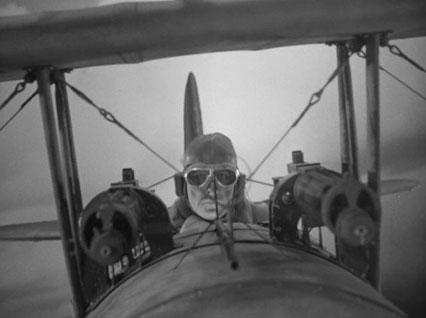 """Douglas Fairbanks Jr. guns 'em down in the final sequence of """"The Dawn Patrol"""""""