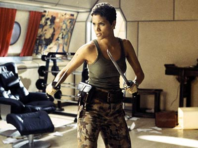 Halle Berry about to whoop some butt in Die Another Day