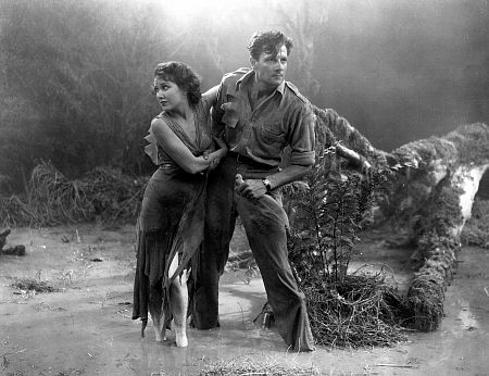 "Joe McCrea and Fay Wray try to survive the night in ""The Most Dangerous Game"""