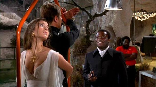 "Jane Seymour and Roger Moore in, ""Live and Let Die"""