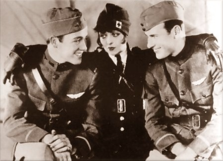 "Promo pic from ""Wings,"" with Clara Bow in center."
