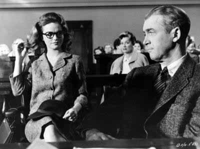 The sexual tension between Lee Remick's Mrs. Manion and Jimmy Stewart's Mr. Beigler is palpable.