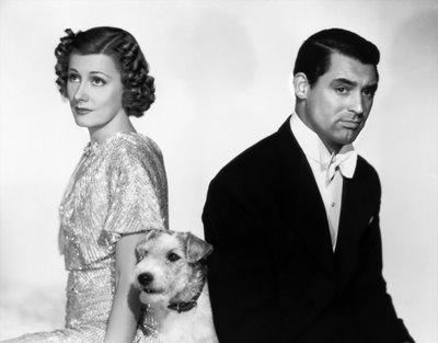 "Irene Dunn and Cary Grant as the (un)happy couple in ""The Awful Truth"""