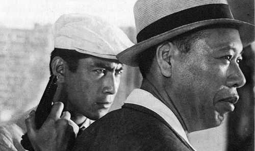 "Toshiro Mifune and Takashi Shimura in Akira Kurosawa's ""The Bad Sleep Well"""