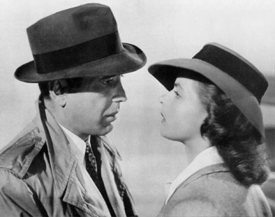 "Humphrey Bogart telling Ingrid Bergman that they'll always have Paris in ""Casablanca"""