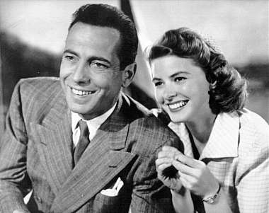 "Bogart and Bergman showcasing their good looks and enjoying Northern Africa in ""Casablanca"""