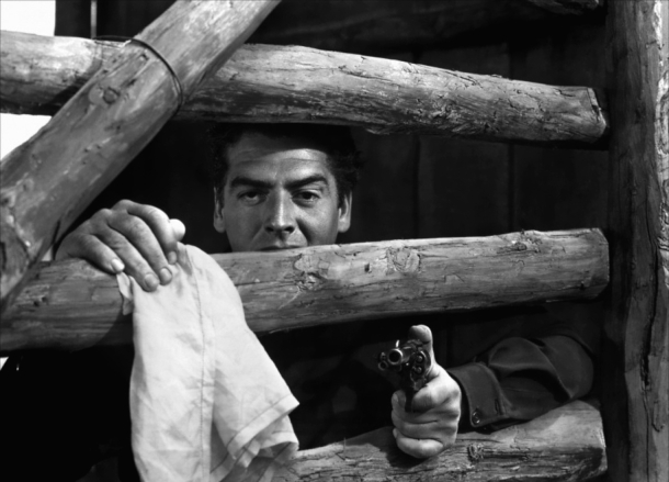 "`Victor Mature as Doc Holiday in ""My Darling Clementine"""