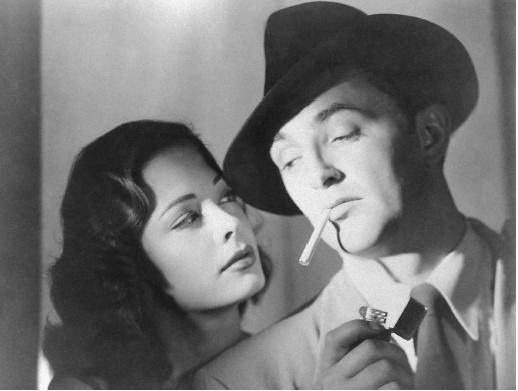 "Jane Greer and Robert Mitchum in ""Out of the Past"""