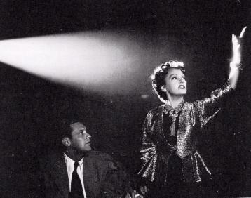 "William Holden and Gloria Swanson in ""Sunset Blvd."""