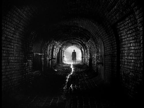 "The sewer chase sequence in ""The Third Man"""