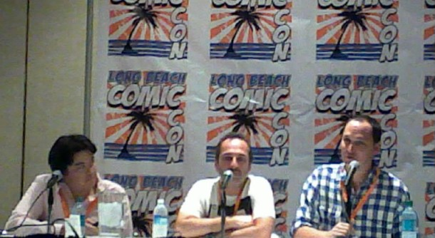 Louis Leterrier, far right, answers questions at Comic Con.