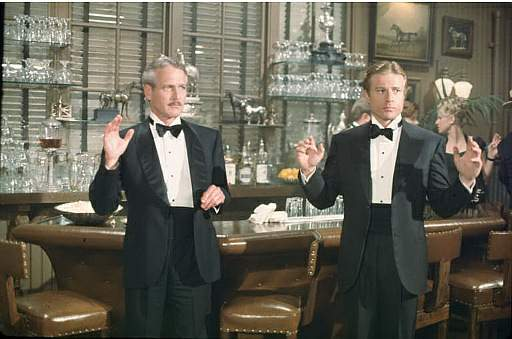 """Paul Newman and Robert Redford do some grifting in, """"The Sting"""""""