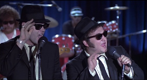 "Dan Aykroyd and Jim Belushi in ""The Blues Brothers"""