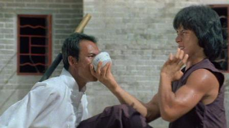 "Jackie Chan shares some of the secret juice in, ""Drunken Master."""