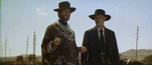 "Clint Eastwood and Lee Van Cleef in ""For A Few Dollar More"""