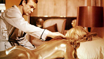 "A scene from the beginning of ""Goldfinger"""
