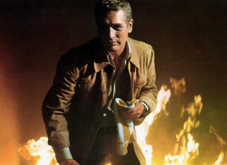 "Paul Newman saves lives in, ""The Towering Inferno"""