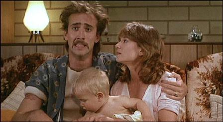 "Nic Cage and Holly Hunter steal a baby in ""Raising Arizona"""