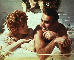 "Jill St. John and Sean Connery in ""Diamonds Are Forever"""