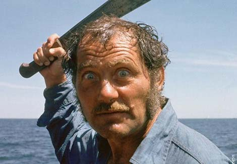 "There once was a man named Quint, who saw a shark and said, ""S**t!"" He picked up a 'chete, and stood at the ready, and then he got gobbled and bit."