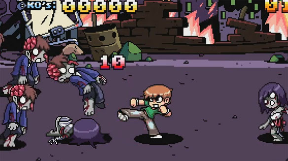 Secret Zombie Level in Scott Pilgrim!!