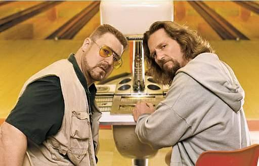 John Goodman and the Dude aka Jeff Bridges debate gutterballs.