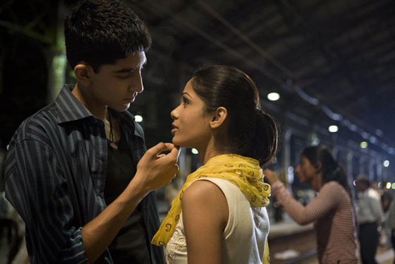 Dev Patel and the rest of the world falls in love with Freida Pinto.