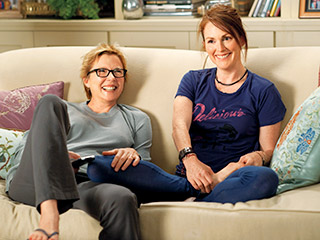 "Annette Bening and Julianne Moore in ""The Kids Are All Right."""
