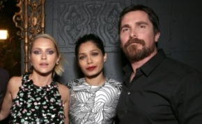 Christian Bale, Freida Pinto Shine at 'Knight of Cups' Premiere