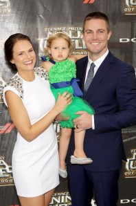 "New York, NY - 5/22/16 - Paramount Pictures and Nikelodeon Movies Present the World Premiere of ""Teenage Mutant Ninja Turtles: Out of the Shadows"" Sponsored by Dodge..-Pictured: Cassandra Jean, Daughter, Stephen Amell.-Photo by: Marion Curtis/Starpix"