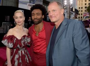 Donald Glover, Emilia Clarke Shine on 'Solo: A Star Wars Story' Red Carpet