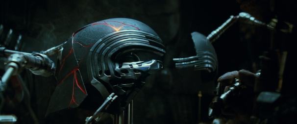 Kylo Ren's restored helmet in STAR WARS: THE RISE OF SKYWALKER.